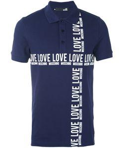 Love Moschino | Logo Print Polo Shirt