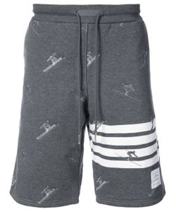 Thom Browne | Classic Sweatshort In Quilted Loopback With Skier