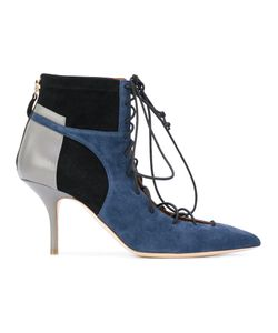 MALONE SOULIERS | Block Panel Lace-Up Boots