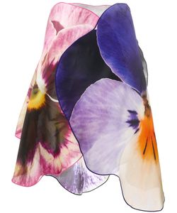 Christopher Kane | 3d Pansy Skirt 40 Silk