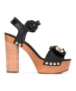 Dolce & Gabbana | Raffia Embellished Sandals Size 37.5