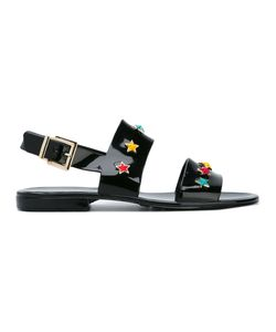 Red Valentino | Star Stud Sandals 40 Rubber