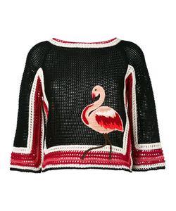Red Valentino | Трикотажный Топ С Фламинго