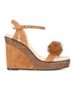 Castañer   Pom-Pom Detail Wedge Sandals Size 37