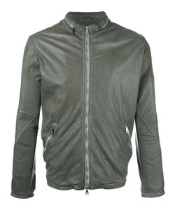 Giorgio Brato | Zip Up Jacket 52 Cotton/Leather/Nylon