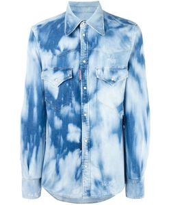 Dsquared2 | Bleached Effect Denim Shirt 46 Cotton/Elastodiene