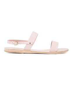ANCIENT GREEK SANDALS | Clio Flat Sandals 40 Leather/Rubber