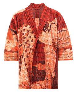 HOMME PLISSE ISSEY MIYAKE | Homme Plissé Issey Miyake Geisha Print Open Jacket 1