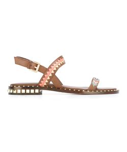 Ash | Studded Trim Sandals 38 Leather/Metal