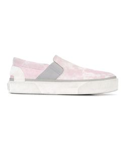 Lanvin | Bleach Effect Slip-On Sneakers 8 Cotton/Calf Leather/Rubber