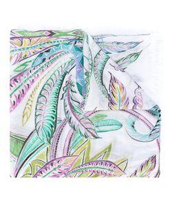 Roberto Cavalli | Leaf Print Scarf