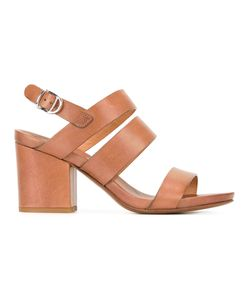 Buttero | Block Heel Sandals 38 Calf Leather/Leather
