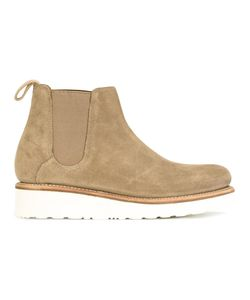Grenson | Platform Chelsea Boots 37 Calf Suede/Leather/Rubber