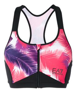 EA7 | Vigor 7 Palm Print Sports Bra