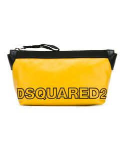 Dsquared2 | Two-Tone Logo Wash Bag Cotton/Linen/Flax/Calf Leather/Polyurethane