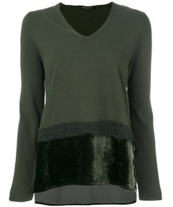 Luisa Cerano | Faux Fur Trim Detail Knit Top