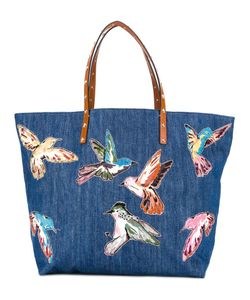 Red Valentino | Large Bird Print Tote Cotton