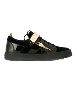 Giuseppe Zanotti Design | Metal Bar Sneakers Size 43 Calf
