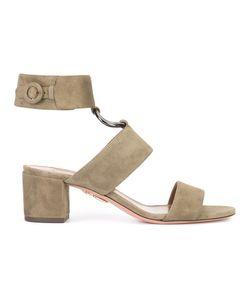 Aquazzura | Ankle Strap Sandals 37.5 Suede/Leather