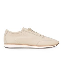 HENDERSON BARACCO | Scalloped Tongue Lace-Up Sneakers Calf