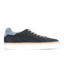 Hogan Rebel | Raffia Detail Lace-Up Sneakers
