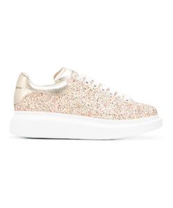 Alexander McQueen | Extended Sole Glitter Sneakers 38.5 Plastic/Leather/Rubber