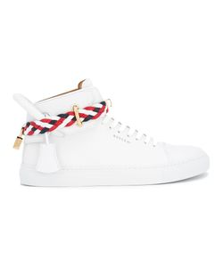 Buscemi   Belted Padlock Detail Hi-Tops 41 Calf Leather/Rubber/Leather