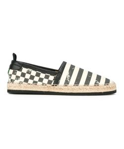 Marc Jacobs   Stripe And Check Espadrilles 42