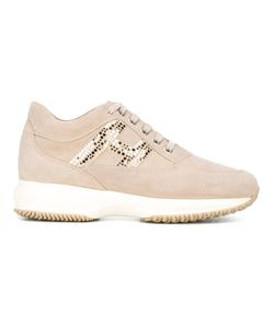 Hogan | Lace Up Trainers 40 Rubber/Leather/Suede