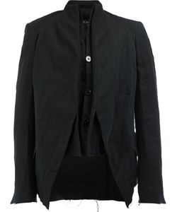 CEDRIC JACQUEMYN | High Neck Laye Blazer 46 Cotton/Linen/Flax/Ramie/Polyester