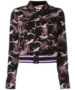 GIAMBA | Cropped Jacquard Jacket 44 Cotton/Polyamide/Spandex/Elastane/Polyurethane