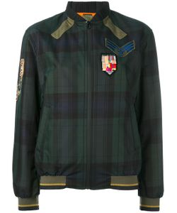 MR & MRS Italy | Plaid Print Bomber Jacket