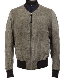ZIGGY CHEN | Classic Bomber Jacket 46 Cotton/Hemp/Linen/Flax/Cupro