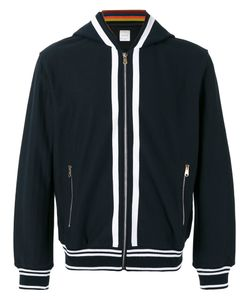Paul Smith   Striped Detail Zipped Hoodie Size Small