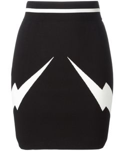 Neil Barrett | Lightning Bolt Mini Skirt Xs Viscose/Nylon