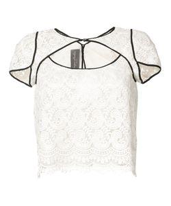 Monique Lhuillier | Кружевная Блуза С Резным Дизайном