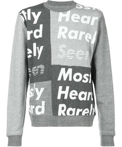 Mostly Heard Rarely Seen | Logo Print Sweatshirt Size Medium