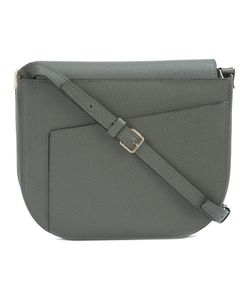 Valextra | Asymmetric Closure Crossbody Bag Leather