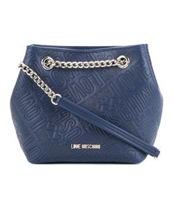 Love Moschino | Logo Embossed Bucket Bag