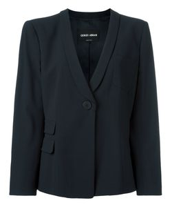 Giorgio Armani | One Button Blazer 46 Virgin Wool/Viscose/Spandex/Elastane
