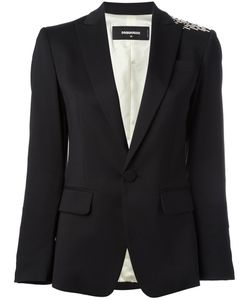 Dsquared2 | London Sequin Jacket 42 Virgin Wool/Spandex/Elastane/Viscose/Polyester