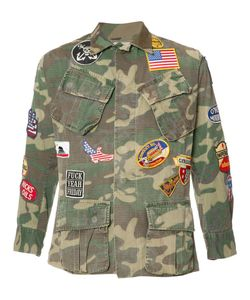 HTC Hollywood Trading Company | Camouflage Print Shirt Large