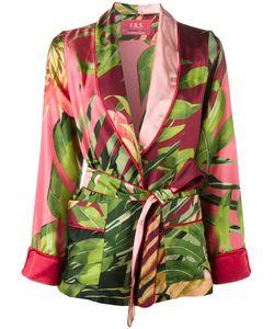 FOR RESTLESS SLEEPERS | Jungle Print Kimono Jacket Small