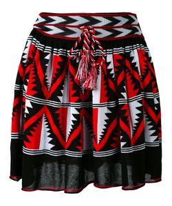 Laneus | Intarsia A-Line Skirt 42