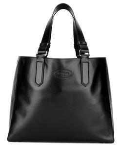 Lanvin | Embossed Logo Shopper Tote Calf Leather/Cotton