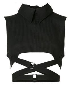 Ann Demeulemeester | Cropped High Neck Vest