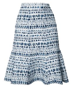 Oscar de la Renta | Abstract Stripes A-Line Skirt 8
