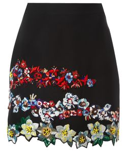 MSGM | Embroide Mini Skirt 42 Acetate/Viscose/Polyester