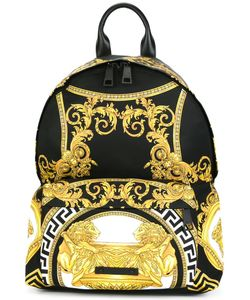 Versace | La Coupe Des Dieux Print Backpack Cotton/Polyamide/Viscose/Leather