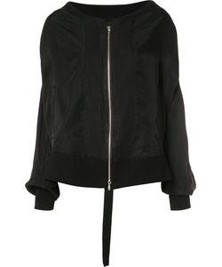 Ann Demeulemeester | Zipped Oversized Jacket 36 Cupro/Rayon